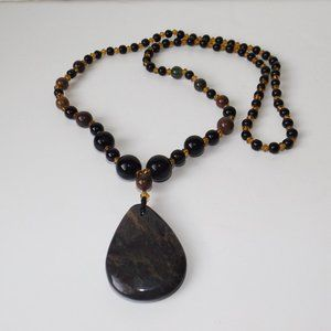 Jewelry - Jasper & Onyx necklace (#981)